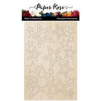 Paper Rose - Wood - Wonky Stars
