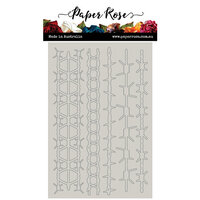 Paper Rose - Chipboard - Barbed Wire