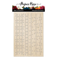 Paper Rose - Wood - Barbed Wire