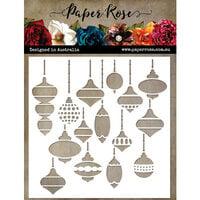 Paper Rose - Stencils - Christmas Baubles