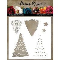 Paper Rose - Stencils - Christmas Tree Builder