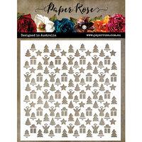 Paper Rose - 6 x 6 Stencils - Little Christmas Pattern