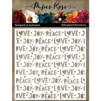 Paper Rose - Christmas - Stencils - Peace Love Joy