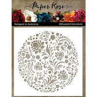 Paper Rose - Christmas - 6 x 6 Stencils - Scandi Circle