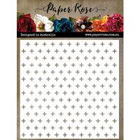 Paper Rose - Christmas - 6 x 6 Stencils - Little Crosses