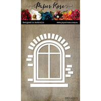 Paper Rose - Dies - Window With Bricks