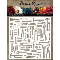 Paper Rose - 6 x 6 Stencils - Lots of Tools