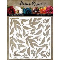 Paper Rose - 6 x 6 Stencils - Eucalyptus Gum Leaf