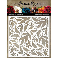 Paper Rose - 6 x 6 Stencils - Spotted Gum Leaf