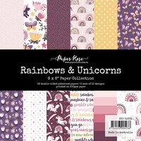 Paper Rose - 6 x 6 Collection Pack - Rainbows and Unicorns