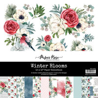 Paper Rose - 12 x 12 Collection Pack - Winter Blooms