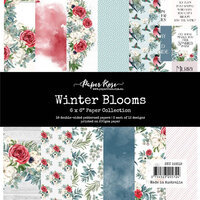 Paper Rose - 6 x 6 Collection Pack - Winter Blooms