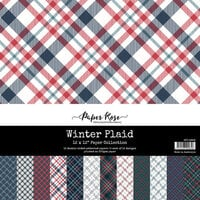 Paper Rose - 12 x 12 Collection Pack - Winter Plaid