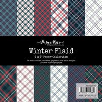 Paper Rose - 6 x 6 Collection Pack - Winter Plaid