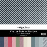 Paper Rose - 12 x 12 Collection Pack - Winter Dots and Stripes