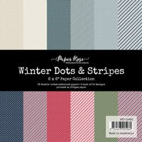 Paper Rose - 6 x 6 Collection Pack - Winter Dots and Stripes