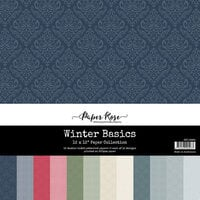 Paper Rose - 12 x 12 Collection Pack - Winter Basics