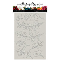 Paper Rose - Chipboard - Baby Blue Leaves