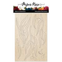 Paper Rose - Wood - Eucalyptus Leaves