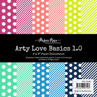 Paper Rose - 6 x 6 Collection Pack - Arty Love Basics 1.0