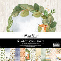 Paper Rose - 12 x 12 Collection Pack - Winter Woodland