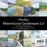 Paper Rose - 6 x 6 Collection Pack - Watercolor Landscapes 1.0