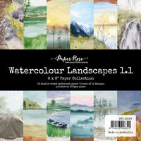 Paper Rose - 6 x 6 Collection Pack - Watercolor Landscapes 1.1