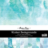 Paper Rose - 12 x 12 Collection Pack - Winter Backgrounds