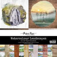 Paper Rose - 12 x 12 Collection Pack - Watercolor Landscapes