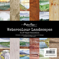 Paper Rose - 6 x 6 Collection Pack - Watercolor Landscapes