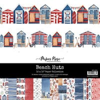 Paper Rose - 12 x 12 Collection Pack - Beach Huts