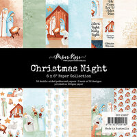 Paper Rose - 6 x 6 Collection Pack - Christmas Night