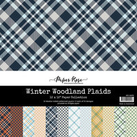 Paper Rose - 12 x 12 Collection Pack - Woodland Plaids