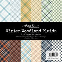 Paper Rose - 6 x 6 Collection Pack - Woodland Plaids