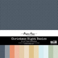 Paper Rose - 12 x 12 Collection Pack - Christmas Night Basics