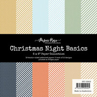Paper Rose - 6 x 6 Collection Pack - Christmas Night Basics