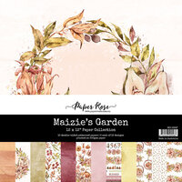 Paper Rose - 12 x 12 Collection Pack - Maizie's Garden