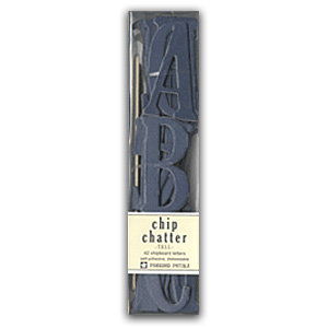 Pressed Petals - Chip Chatter - Tall Chipboard Letters - 2.5 inches - Navy