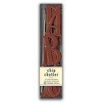 Pressed Petals - Chip Chatter - Tall Chipboard Letters - 2.5 inches - Dark Red, CLEARANCE