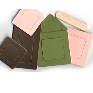 Pressed Petals - Chip Chatter - Shapes - Frames - Spring Green and Pink and Brown