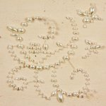 Prima - E Line - Say It In Pearls Collection - Self Adhesive Jewel Art - Bling - Wedded Bliss