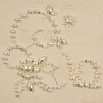 Prima - E Line - Say It In Pearls Collection - Self Adhesive Jewel Art - Bling - April Swirls