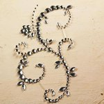 Prima - E Line - Say It In Crystals Collection - Self Adhesive Jewel Art - Bling - Fountain Flurry