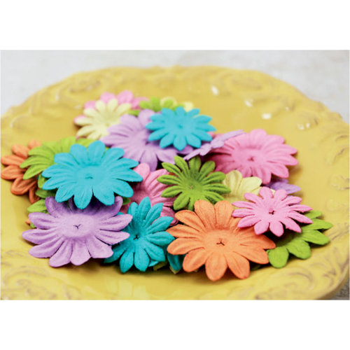 Prima - E Line - Daisy Delicacies Collection - Flower Embellishments - Mixed Vintage