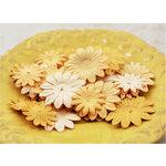 Prima - E Line - Daisy Delicacies Collection - Flower Embellishments - Caramel