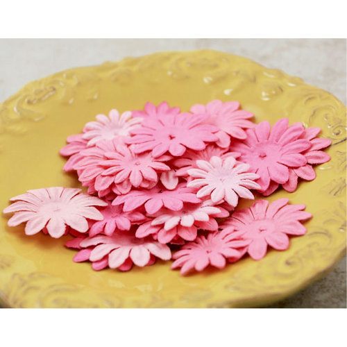 Prima - E Line - Daisy Delicacies Collection - Flower Embellishments - Pink