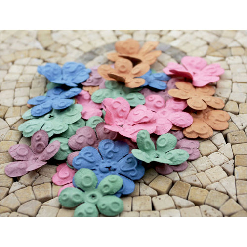 Prima - E Line - Chelsea Collection - Flower Embellishments - Assorted Vintage