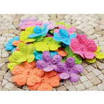 Prima - E Line - Chelsea Collection - Flower Embellishments - Assorted Bright