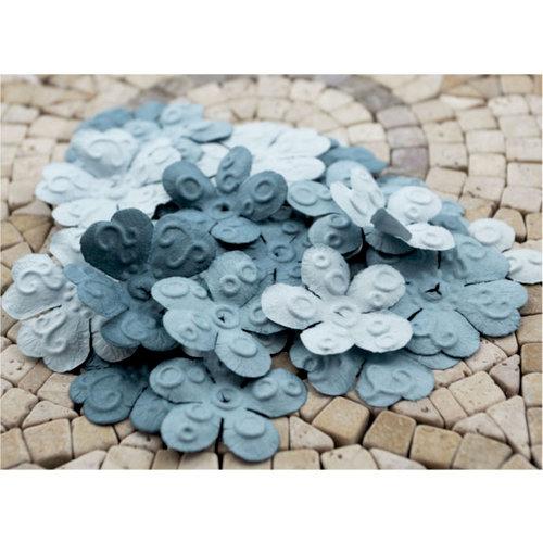 Prima - E Line - Chelsea Collection - Flower Embellishments - Slate Blue