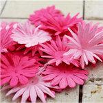 Prima - E Line - Confetti Cake Collection - Flower Embellishments - Bright Pink